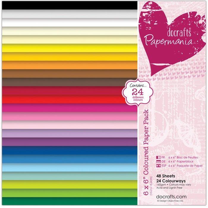 Sada papírů na scrapbooking a cardmaking Sada barevných papírů (48ks) 15x15 cm Papermania