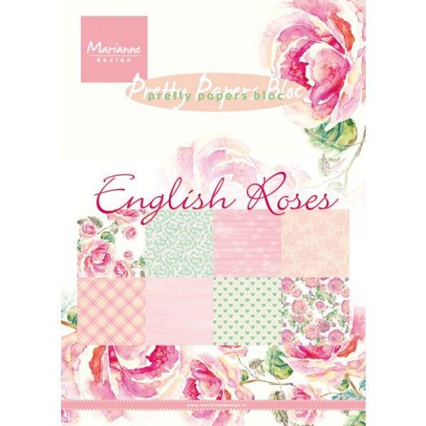 Sada papírů na scrapbooking English Roses, A5 - 8 ks Marianne Design
