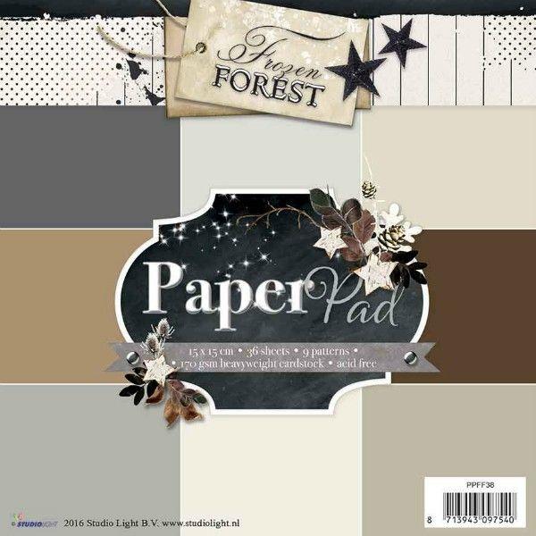 Sada papírů na scrapbooking - Frozen Forest, 15x15 cm. STUDIO LIGHT