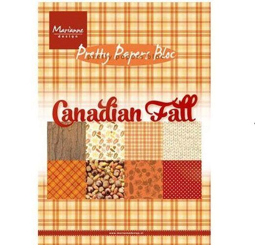 Sada papírů na scrapbooking Marianne Design - Canadian Fall, A5 - 8 ks
