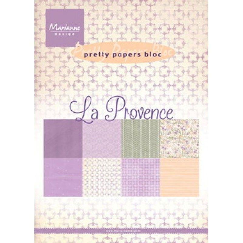 Sada papírů na scrapbooking Marianne Design - La Provence, A5 - 8 ks