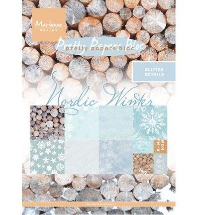 Sada papírů na scrapbooking Marianne Design - Nordic winter, A5 - 8 ks