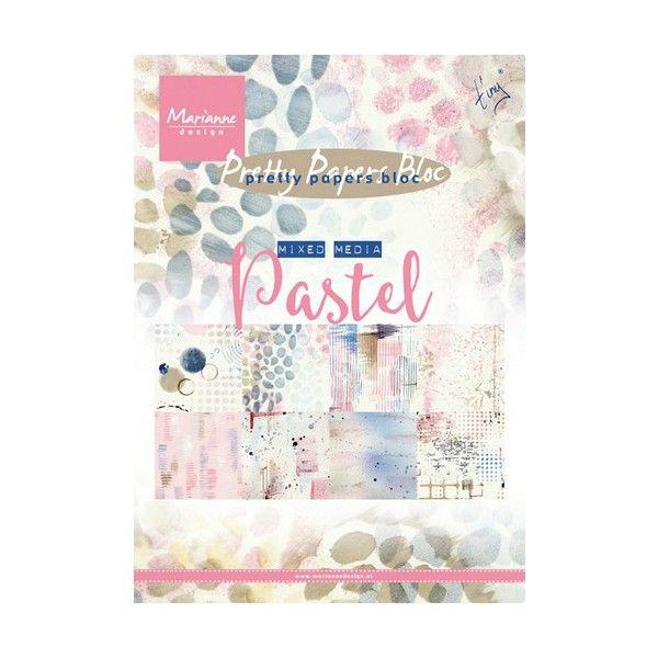 Sada papírů na scrapbooking Marianne Design - Pastel, A5 - 8 ks