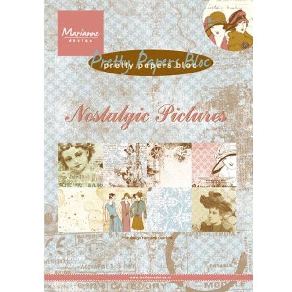 Sada papírů na scrapbooking Marianne Design - Pretty papers bloc Nostalgic Pictures, A5 - 8 ks
