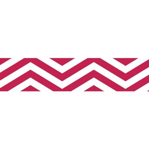 Samolepicí papírová páska 10m chevron červená URSUS
