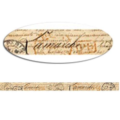 Samolepicí papírová washi páska psací písmo 3cmx5m SMT CREATOYS