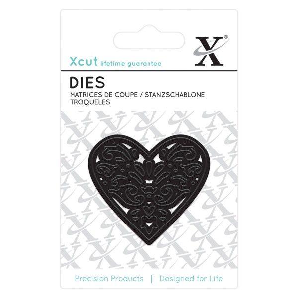 Srdce filigránové - vyřezávací kovové šablony Xcut