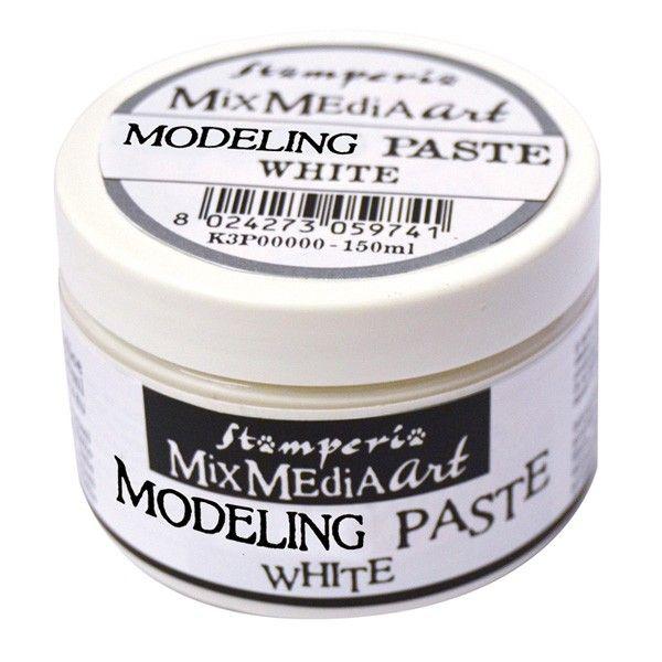 Strukturovací pasta na mixed media - bílá 150ml STAMPERIA