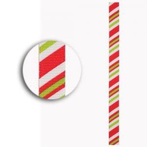 Stuha (3m) Vánoce proužky