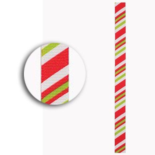 Stuha (3m) Vánoce proužky na scrapbooking, cardmaking, zdobení na bloky, přání, alba a stránky DOCRAFTS PAPERMANIA
