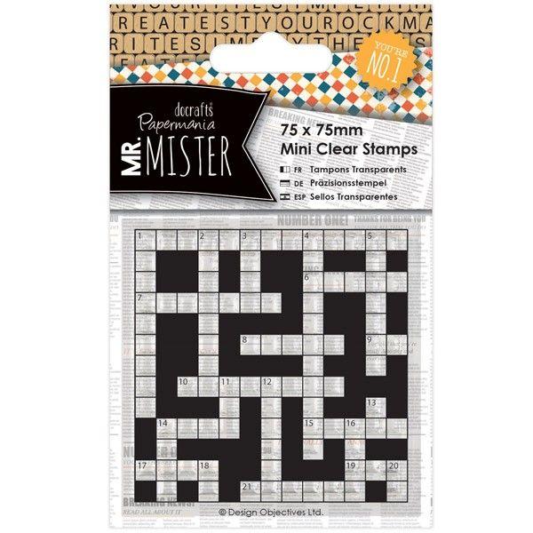 Transparentní razítko mini (1ks) - Mr. Mister - Křížovka Papermania