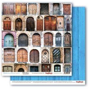 Oboustranný papír na scrapbook ScrapBerry´s Old Doors