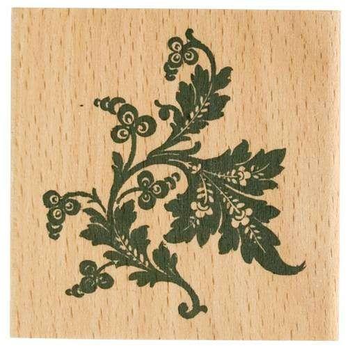 Květinový ornament - Dřevěné razítko Papermania