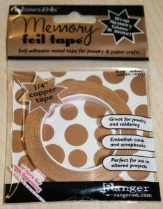 Memory foil tape - Dekorační samolepicí měděná páska