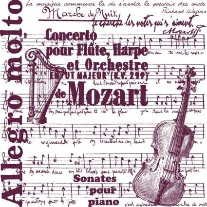 Aladine razítko MAXI STAMP velikosti 12x12 cm, gumové na pěnové kostce Mozart