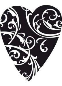 Aladine Dřevěné razítko G Srdce s ornamenty