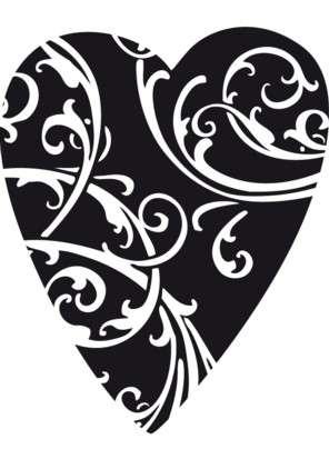 Aladine Dřevěné razítko Srdce s ornamenty