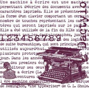 Aladine razítko MAXI STAMP 12x12 cm Psací stroj