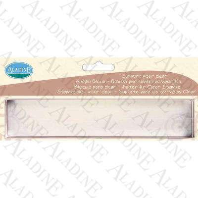 Akrylový blok na silikonová razítka dlouhý od Aladine