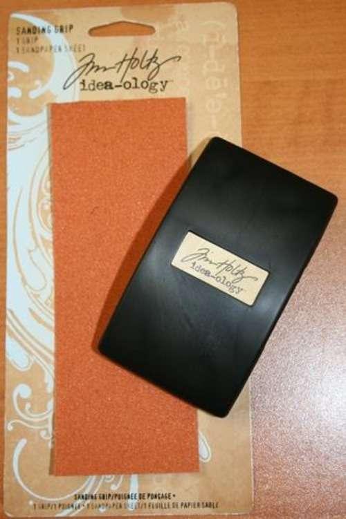 Smirkování papíru - Držák nástroj plus smirkový papírTim Holtz Ranger