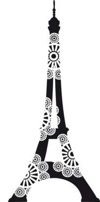 Aladine Dřevěné razítko Rozkvetlá Eiffelovka