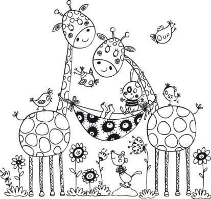 Aladine Dřevěné razítko Kmotry žirafy