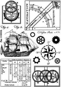 CI-294_Cling razítko Námořnictví - plavba, lod, navigace