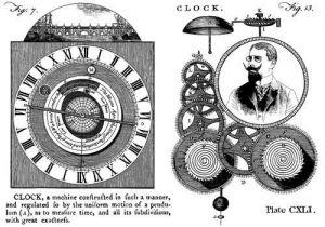 CI-305_Cling razítko Vintage - Hodiny, čas