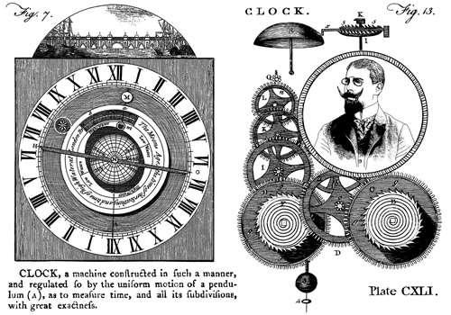 CI-305_Cling gumové razítko Vintage - Hodiny, čas Crafty Individuals