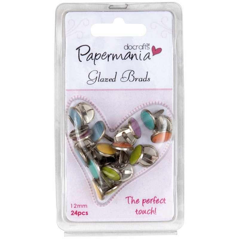 Dekorační hřebíčky aneb brads na scrapbooking, GEM, mix barev Papermania