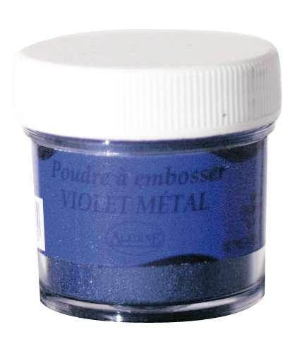 Embosovací prášek, 30 ml, fialový metalický Aladine