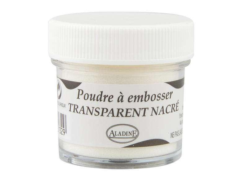 Embosovací prášek, 30 ml, průhledný perleťový Nacré Aladine