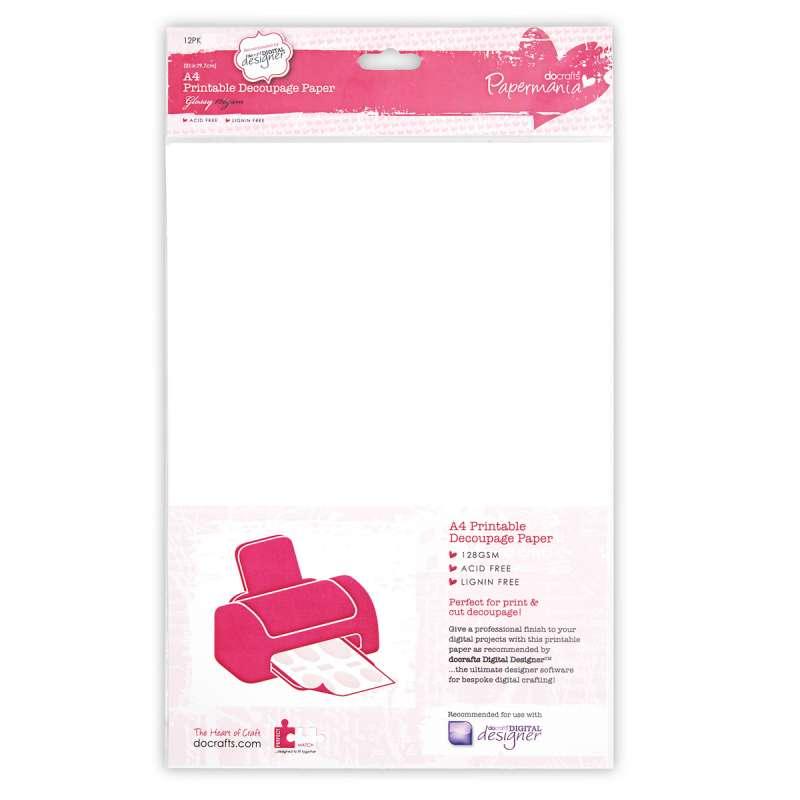 Hladký papír na potisk do tiskárny A4 LESKLÝ Papermania