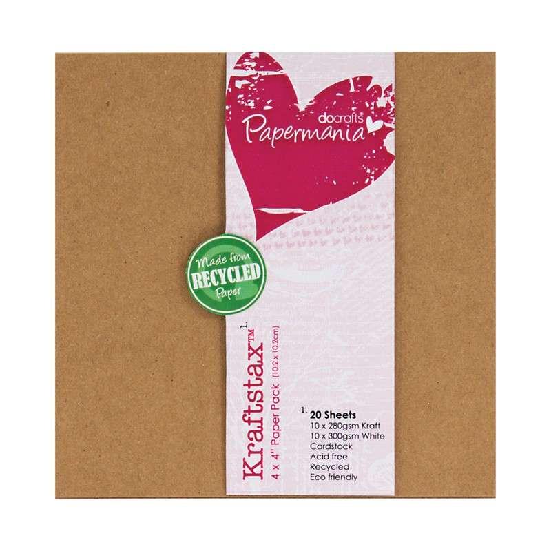 Kraftstax - Sada kartonových papírů na scrapbooking 10x10 cm, vhodné na albíčka a scrapbooking Design Objectives