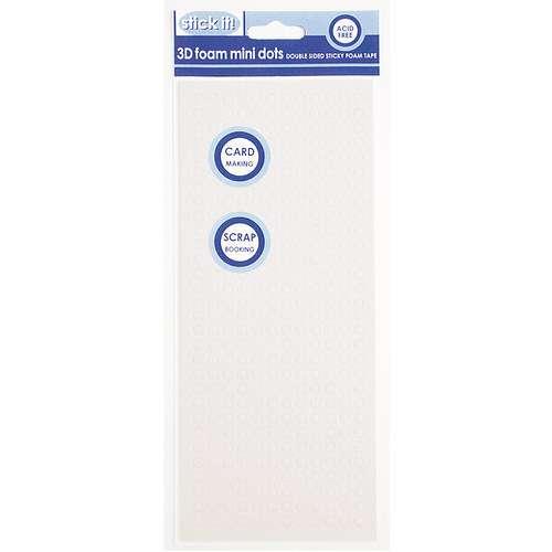 Lepidlo vhodné na scrapbooking i cardmaking 3D pěnové polštářky Tečky bílé 5 mm Design Objectives