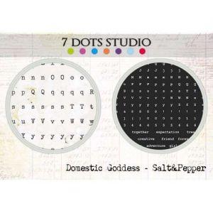 Domestic Goddess - Alpha Stickers - Salt&Pepper - Samolepky na scrapbooking od 7 Dots Studio vhodná i pro cardmaking