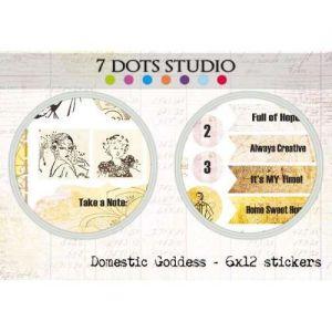 Domestic Goddess - Stickers 6x12 - Samolepky na scrapbooking od 7 Dots Studio vhodná i pro cardmaking