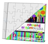Namaluj si sám puzzle! Puzzle čtverce Efko-karton