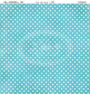Oboustarnný papír - čtvrtka na scrapbooking Wielki Błękit 02 Galeria Papieru