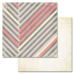 Scrapbookový papír Love You Madly Stripe