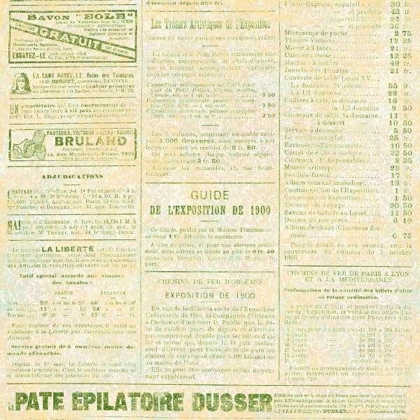 Scrapbookový papír Le Journal - Liberte, čtvrtka vyšší gramáže 190 gsm UHK Gallery