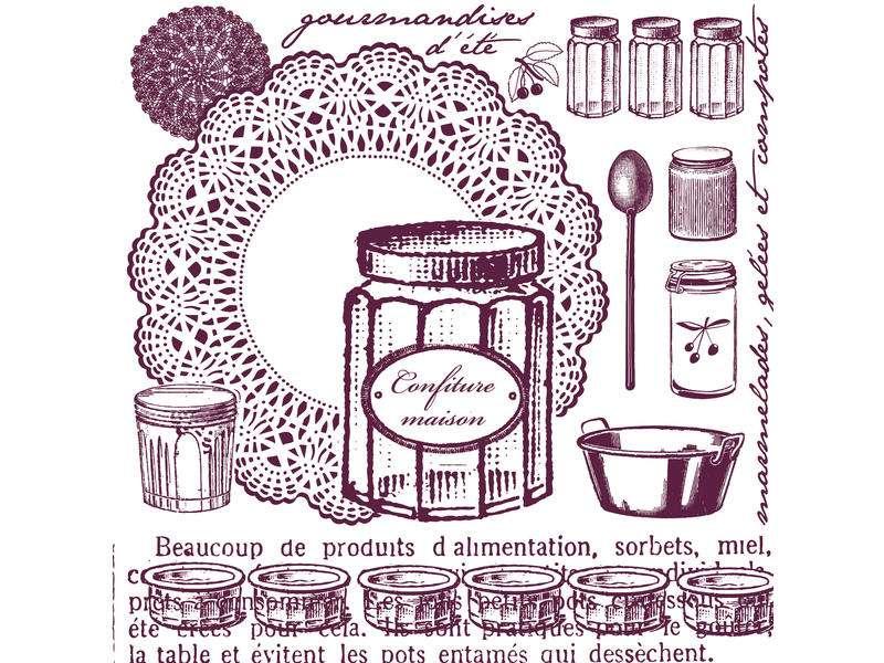 STAMPO MAXI 12x12, marmeláda od Aladine, razítko na pěnové hmotě určeno na scrapbooking a cardmakint