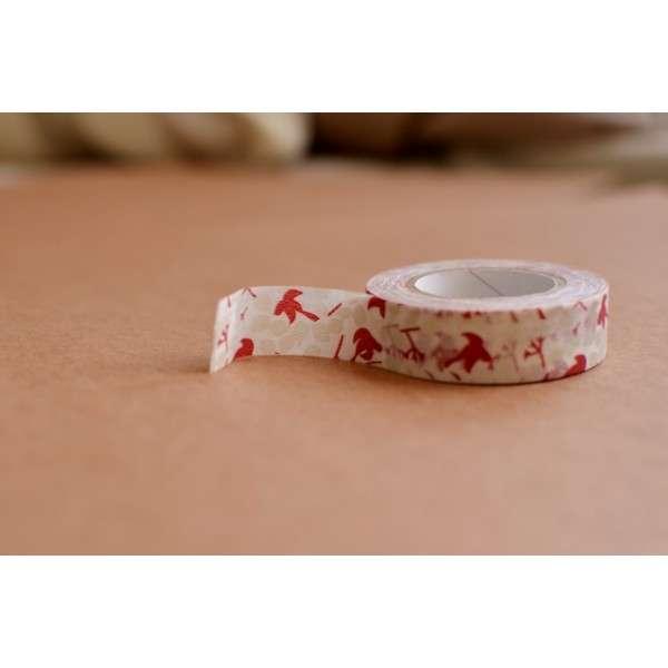 washi páska, na scrapbooking, jako dekorace - Ptáček červený Kamoi Kakoshi Co.