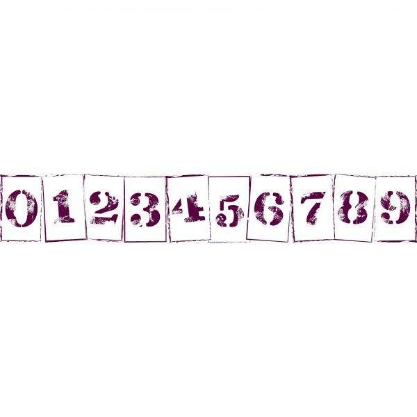 MAXI Stamp od Aladine, razítko na celou scrapbookovou stránku, StampoMaxi, 5x30, číslice