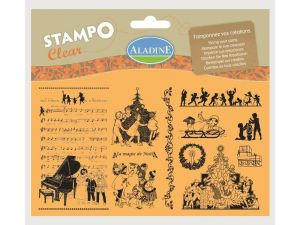 Silikonová razítka StampoClear, Viktoriánské Vánoce