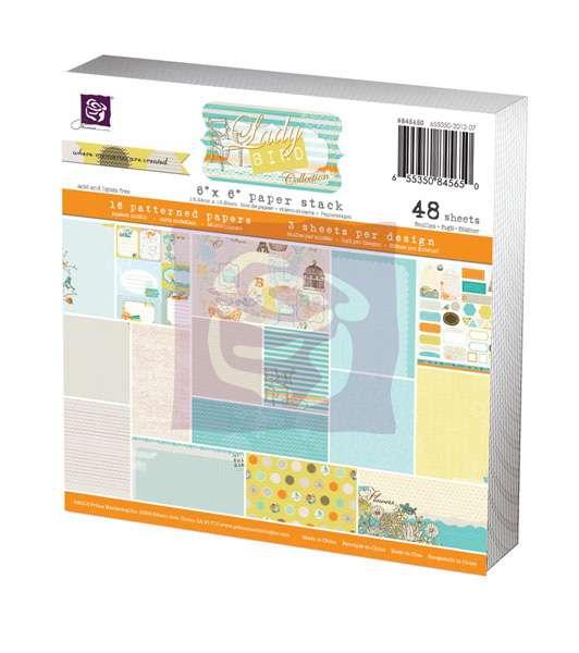 Paper Pad - Sada papírů na scapbooking Lady Bird, 15x15 cm. Prima Marketing