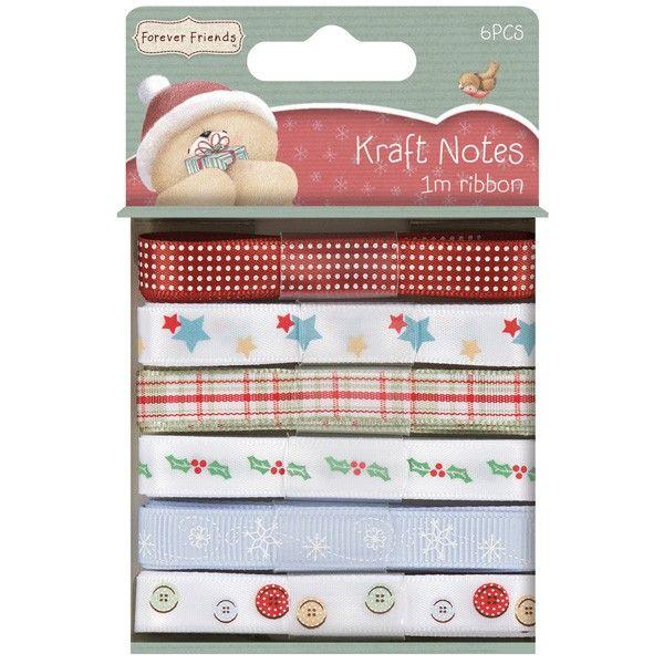 Sada stuh 6x1m Christmas Kraft Notes na scrapbooking, cardmaking, zdobení na bloky, přání, alba a stránky Design Objectives