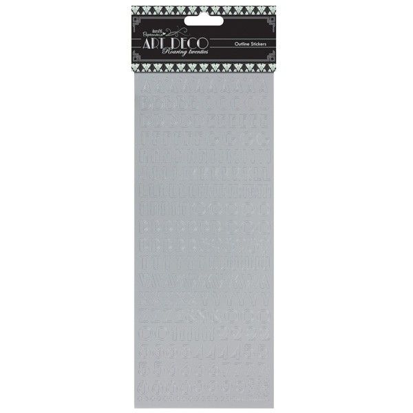 Samolepky - Art Deco - Stříbrná abeceda 10x24cm Design Objectives