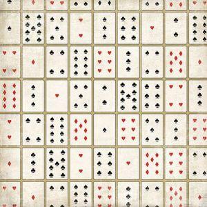 Scrapbooková čtvrtka Card Games