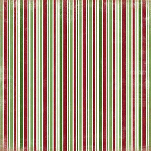 Scrapbooková čtvrtka Christmas Stripes CARTA BELLA